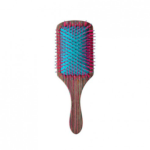 Bifull Brush Racket, Striped Wood Purple
